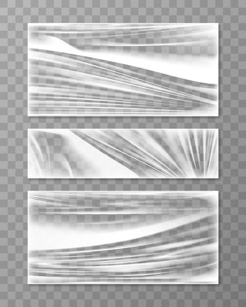 Uitgerekte cellofaan verfrommeld textuur Gratis Vector