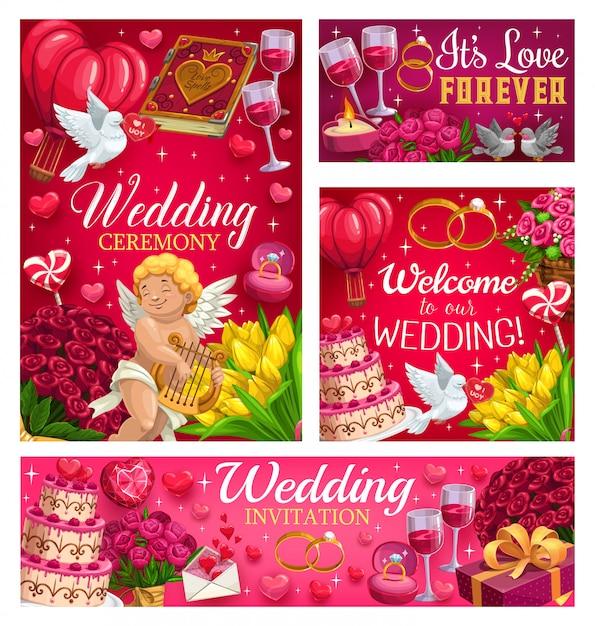 Uitnodigingen op save the date party, wedding day, Premium Vector