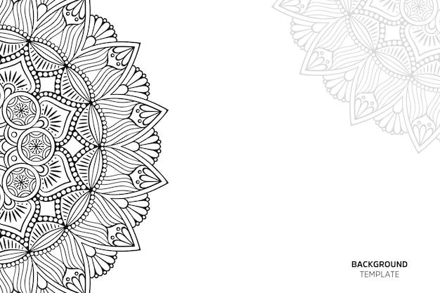 Uitnodigingskaart met bloemenornament backgraund Premium Vector