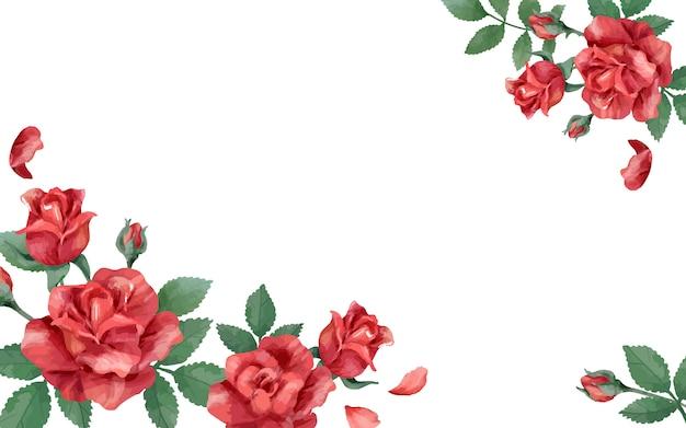 Uitnodigingskaart met een rood kleurenschema Gratis Vector