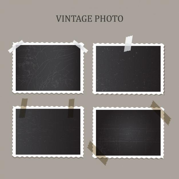 Uitstekende foto's verzameling Gratis Vector