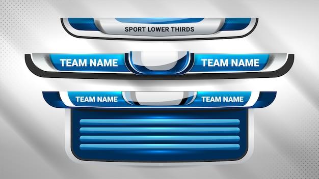 Uitzending sportscorebord en lagere derde Premium Vector