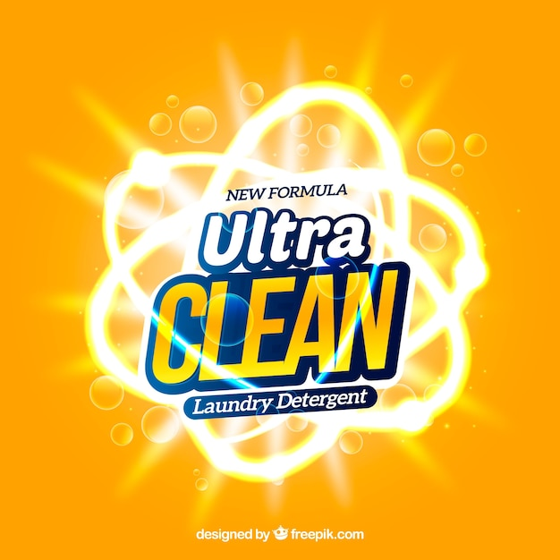Ultra schoon product voor wasgoed Gratis Vector