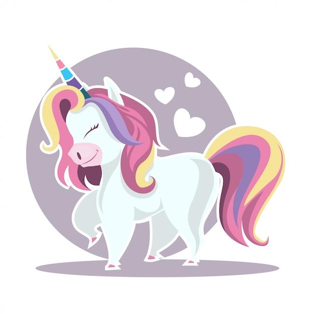 Unicorn illustratie Premium Vector