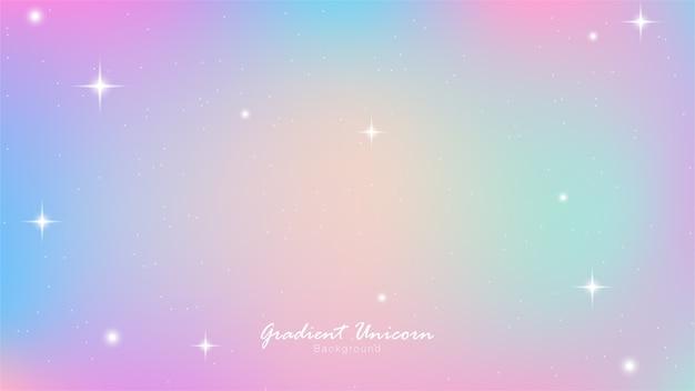 Unicorn sky kleurrijk verloop Premium Vector