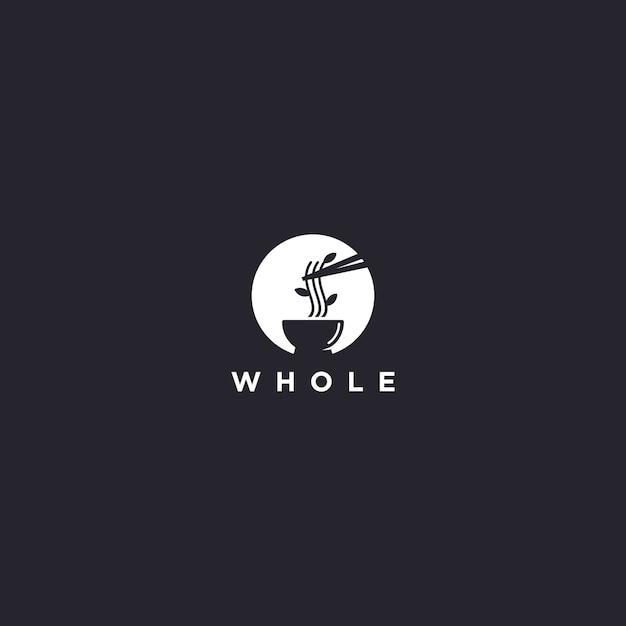 Uniek ramen-logo Premium Vector