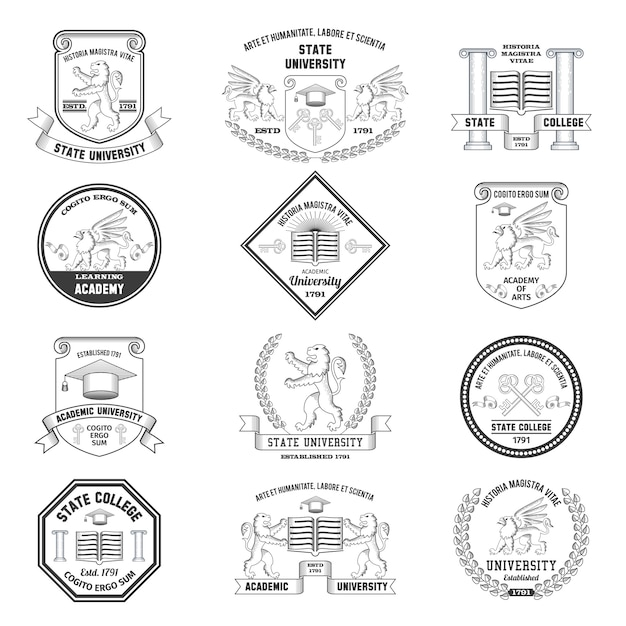 Universele labelset Gratis Vector