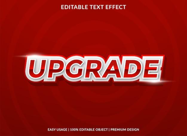 Upgrade teksteffectsjabloon Premium Vector