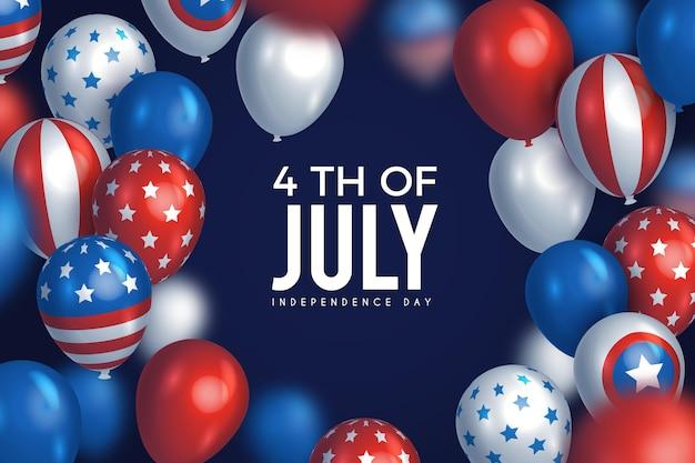 Usa onafhankelijkheidsdag 4 juli achtergrond Gratis Vector