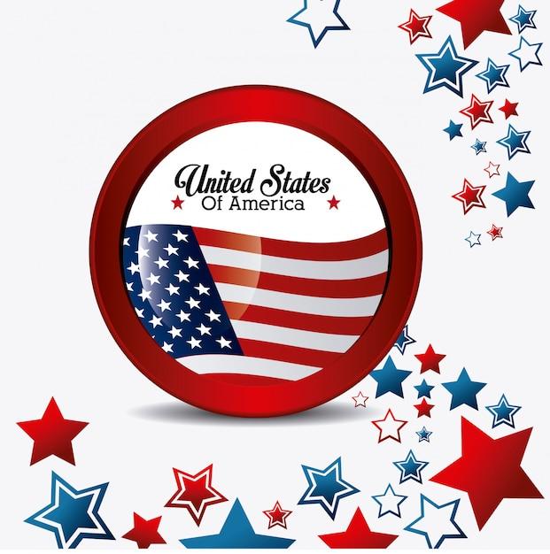 Usa ontwerp. onafhankelijkheidsdag 4 juli Gratis Vector