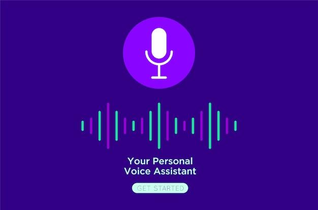 Uw persoonlijke stem vlakke illustratie Premium Vector