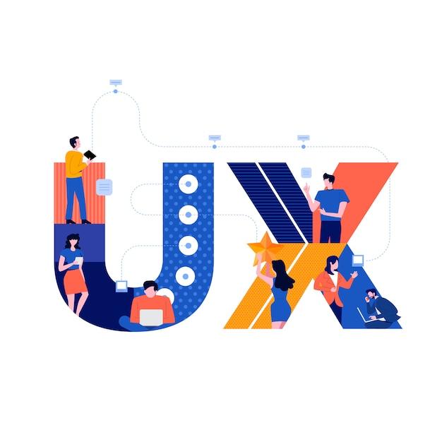 Ux werkprocesteam Premium Vector