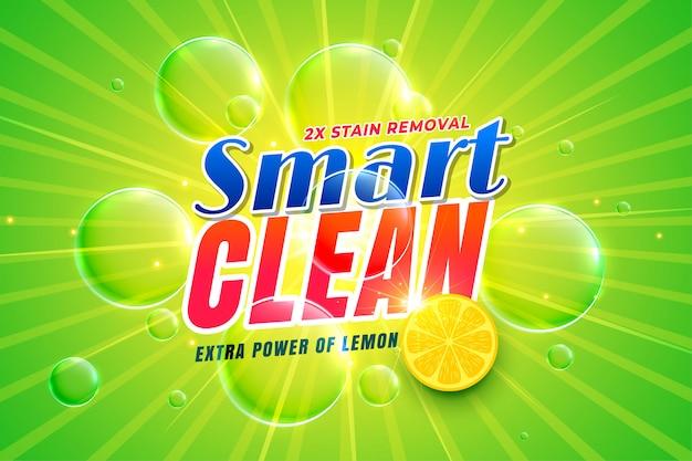 Vaatwasmiddel met citroensap-sjabloon Gratis Vector