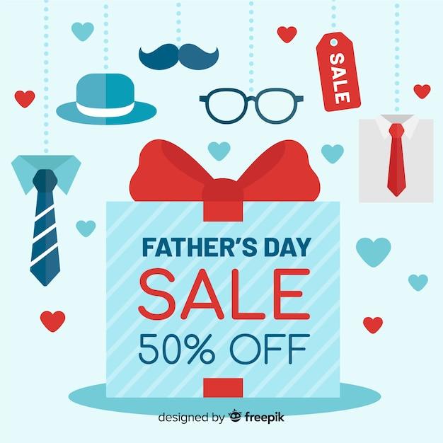Vaderdag verkoop achtergrond Gratis Vector