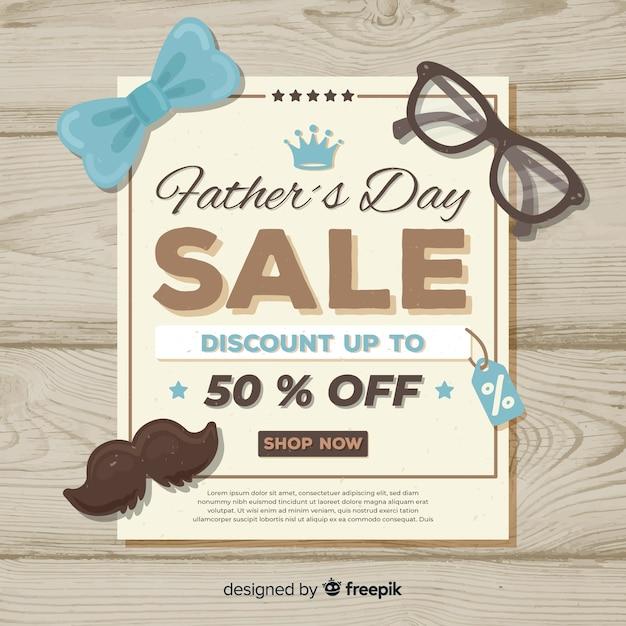 Vaderdag verkoop Gratis Vector