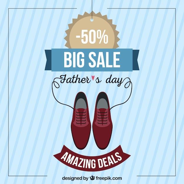 Vaderdag verkoopsjabloon met kleding elementen Gratis Vector