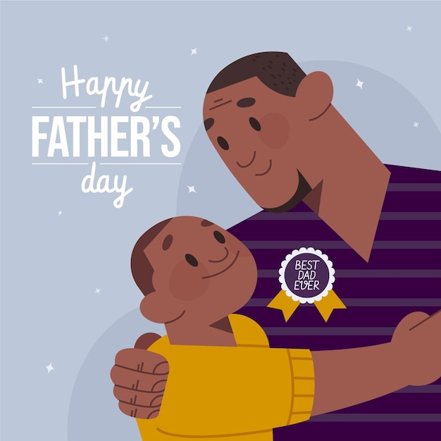 Vaderdagviering in vlakke stijl Gratis Vector