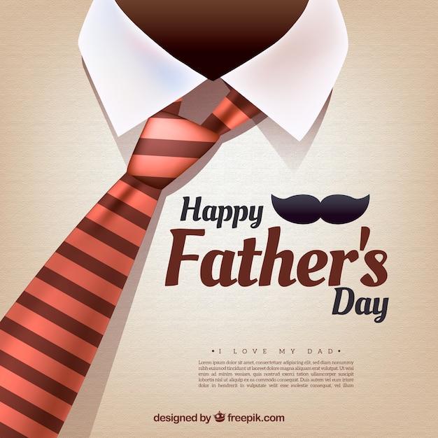 Vaders dag achtergrond met stropdas Gratis Vector