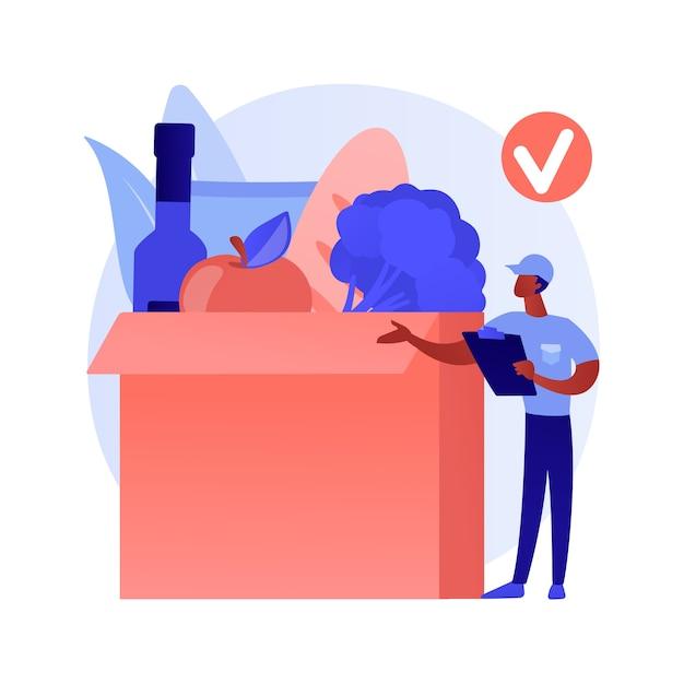 Vak abonnement dienst abstract concept Gratis Vector