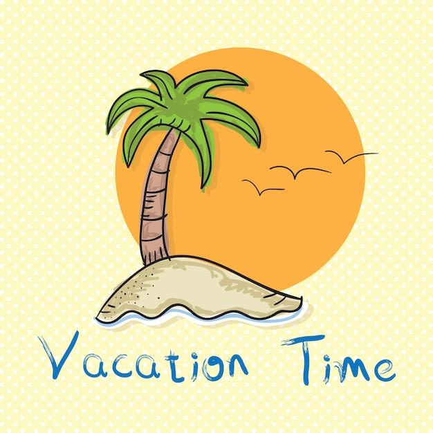 Vakantie tijd zomerzon pictogrammen Premium Vector