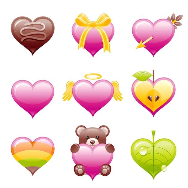 Valentijn pictogram. Premium Vector