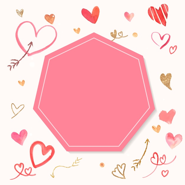 Valentijnsdag achtergrond aquarel stijl vector Gratis Vector