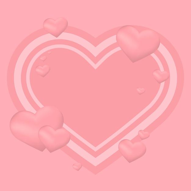 Valentijnsdag achtergrond illustratie Gratis Vector
