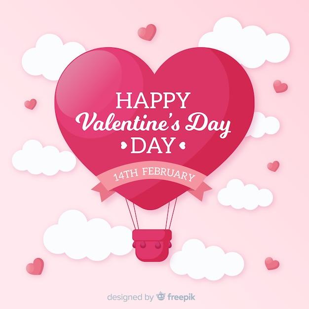 Valentijnsdag achtergrond Gratis Vector