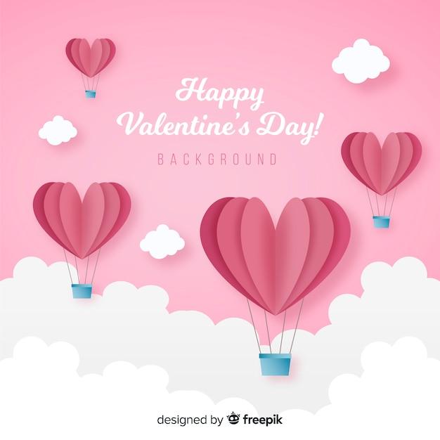 Valentijnsdag achtergrond. Gratis Vector