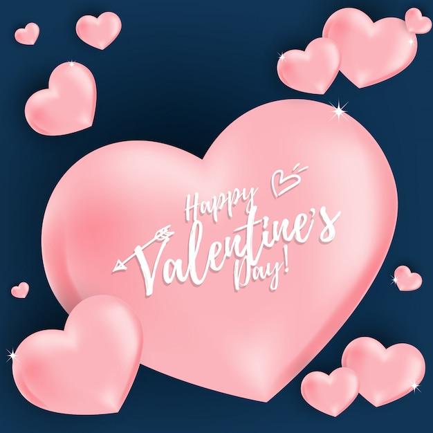 Valentijnsdag achtergrond Premium Vector