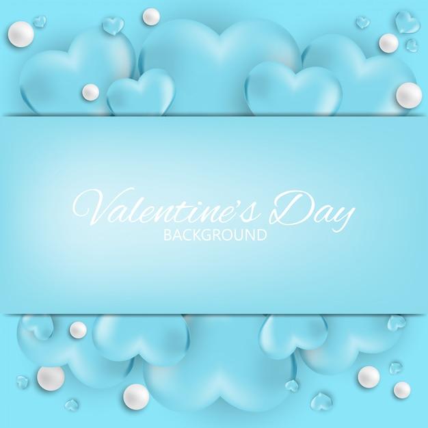 Valentijnsdag achtergrond. Premium Vector