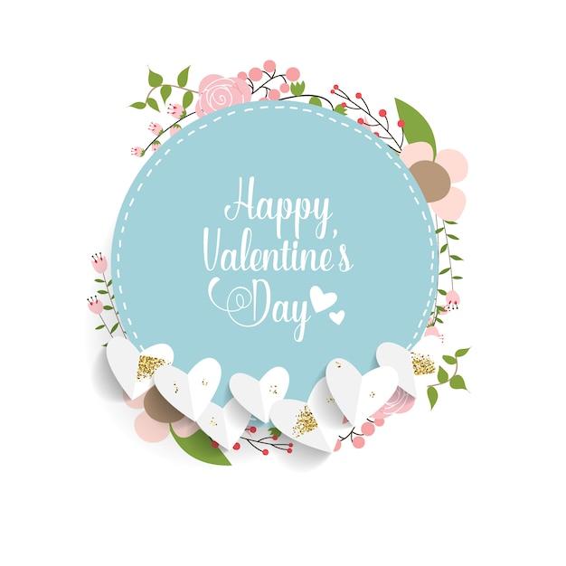 Valentijnsdag achtergrondontwerp Premium Vector