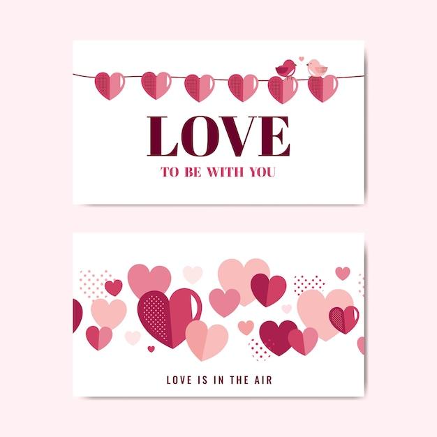 Valentijnsdag banner decoratie vector Gratis Vector