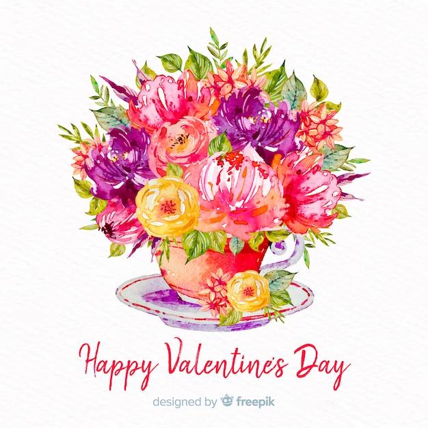 Valentijnsdag boeket Gratis Vector