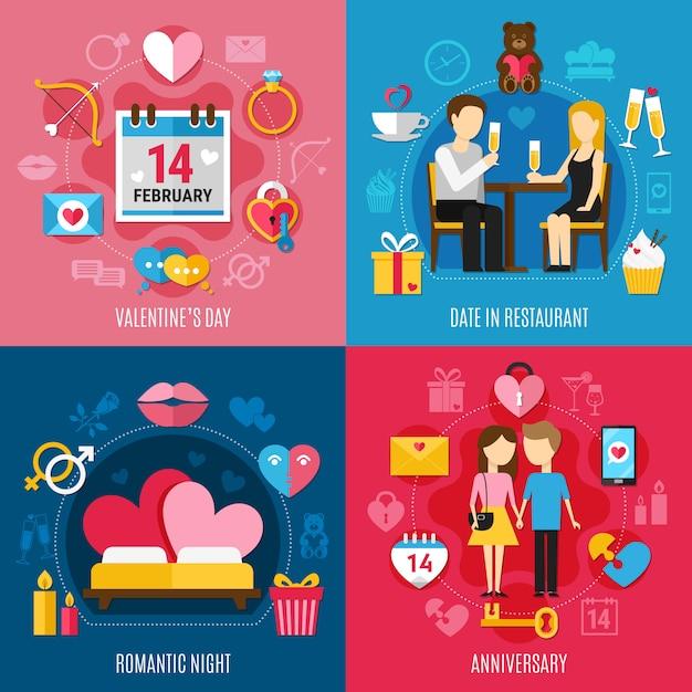 Valentijnsdag concept Gratis Vector