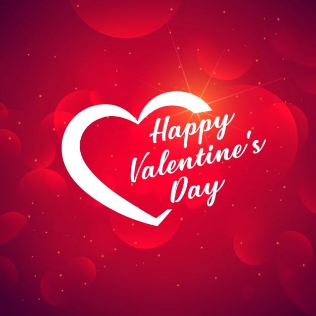 Valentijnsdag creatieve achtergrond Gratis Vector