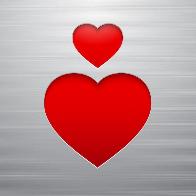 Valentijnsdag hart Gratis Vector