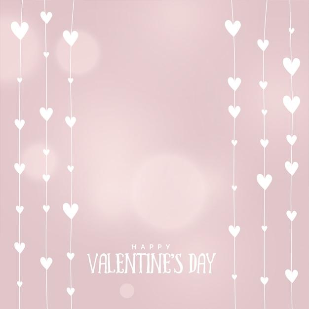 Valentijnsdag harten achtergrond in zachte kleuren Gratis Vector