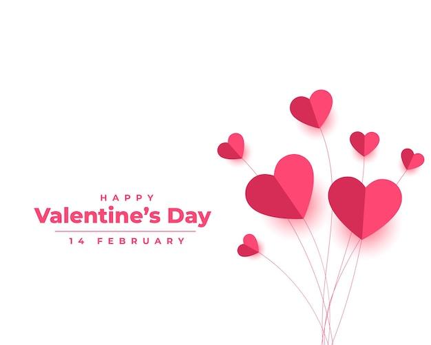 Valentijnsdag in papieren stijl Gratis Vector