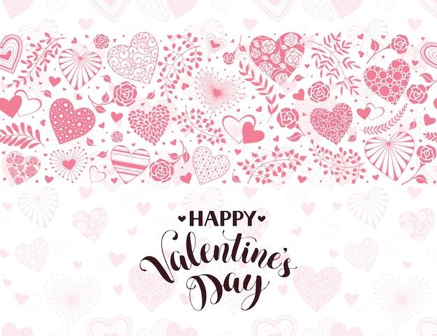 Valentijnsdag kaart Premium Vector