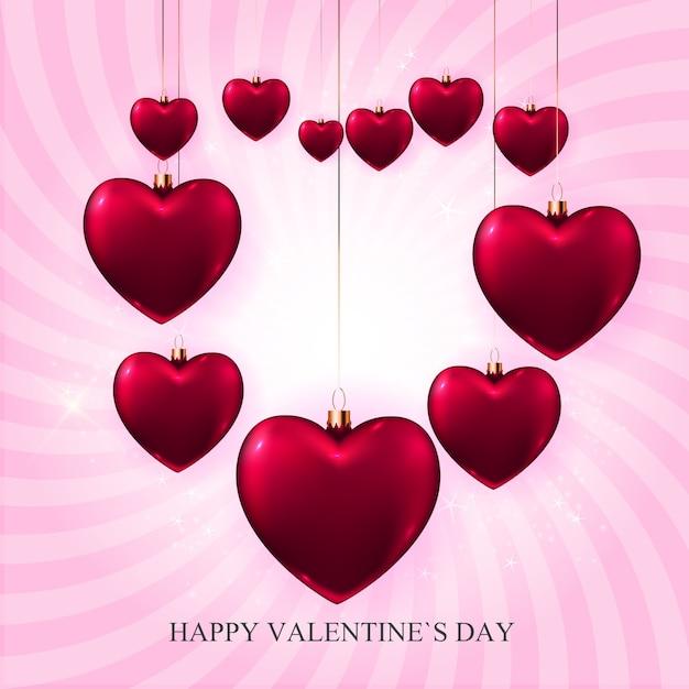 Valentijnsdag liefde en gevoelens achtergrond Premium Vector