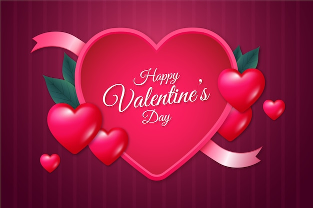 Valentijnsdag realistische stijl als achtergrond Gratis Vector