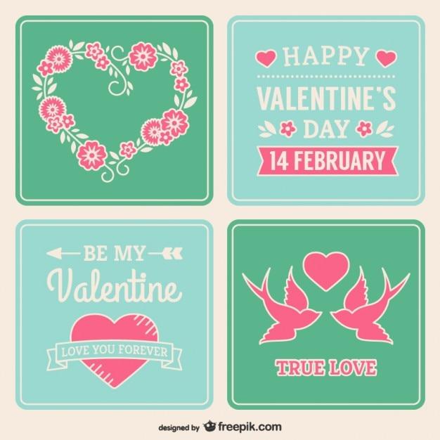 Valentijnsdag stickers Gratis Vector