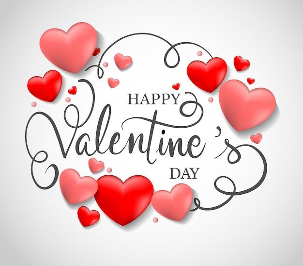 Valentijnsdag verkoop achtergrond Premium Vector