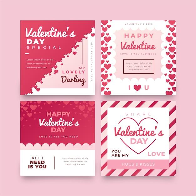 Valentijnsdag verkoop post collectie Gratis Vector
