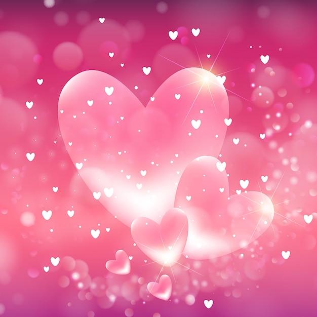 Valentine's hearts achtergrond Gratis Vector