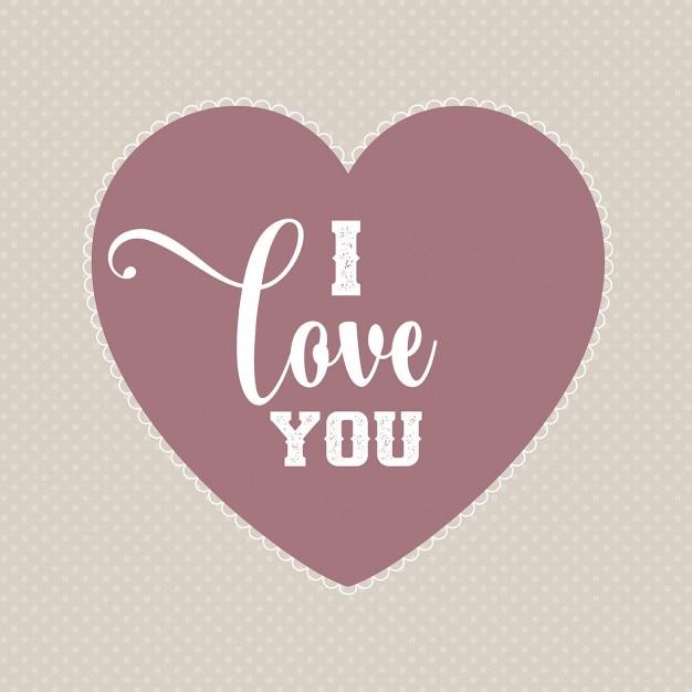 Valentines day achtergrond met hoort en decoratieve tekst het valentines day achtergrond met hoort en decoratieve tekst het zeggen i love you gratis vector voltagebd Images