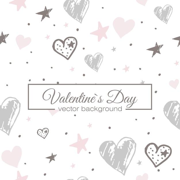 Valentines hart naadloze patroon Gratis Vector