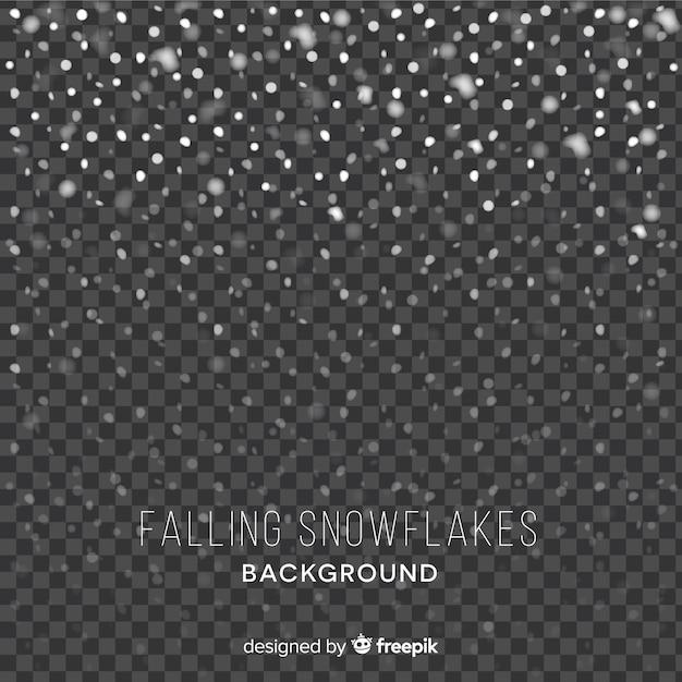 Vallende sneeuwvlokken achtergrond Gratis Vector