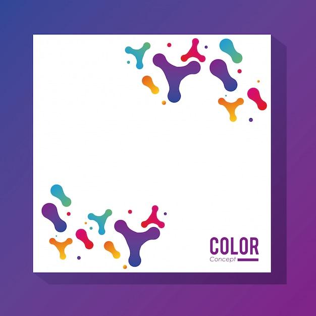 Van het achtergrond kleurenconcept kader Premium Vector